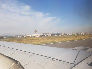 Plane's landing in Yerevan International Airport