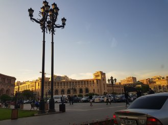One of the buildings in Republic Square