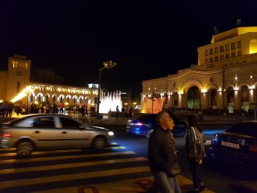 Street heading to Republic Square