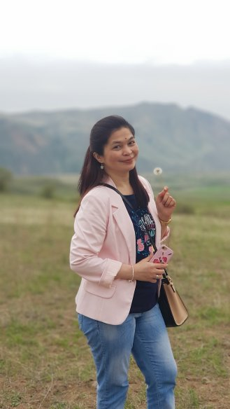 Ate Maria with her dandelion
