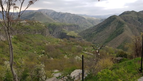 View at the back of Garni Temple